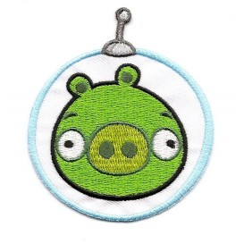 écusson angry birds space cochon thermocollant
