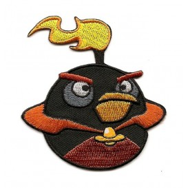 écusson angry birds space oiseau noir thermocollant
