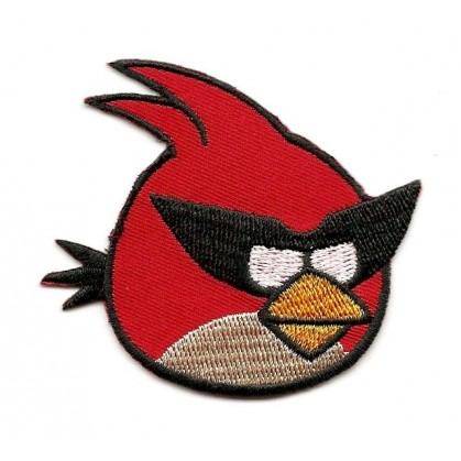 écusson angry birds space oiseau rouge thermocollant