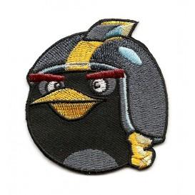 écusson angry birds go oiseau noir thermocollant
