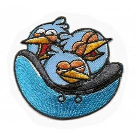 écusson angry birds go 3 oiseaux bleus thermocollant