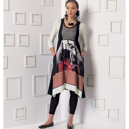 patron haut, robe et collant Vogue V9108
