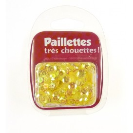 PAILLETTES 15 GRS JAUNE TRANSPARENT
