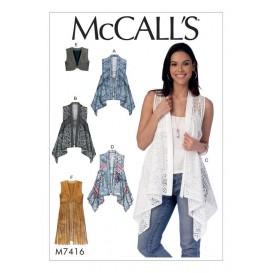 patron gilets McCall's M7416