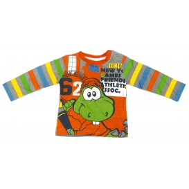 t-shirt dino orange 6mois