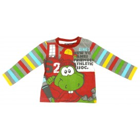 t-shirt dino rouge 3mois