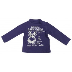 sous pull cerf classic styling bleu 3mois