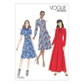 patron robe ajustée Vogue V9201