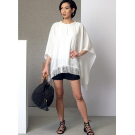 patron poncho, haut, short Vogue V9191