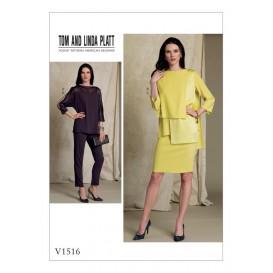 patron hauts, jupe et pantalon Vogue V1516