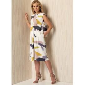 patron robe à épaulettes Vogue V1501