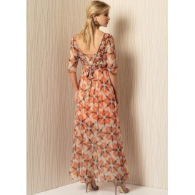 patron robe doublée Vogue V1502