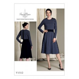 patron robe doublée Vogue V1512