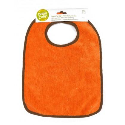 bavoir 1er âge microfibre orange
