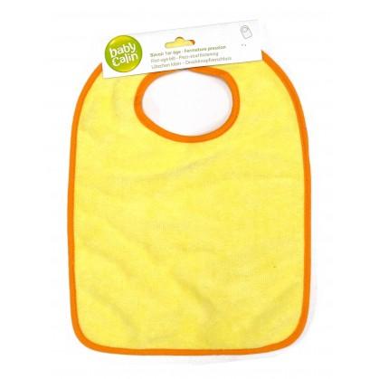 bavoir 1er âge microfibre jaune