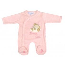 pyjama velours rose chien naissance