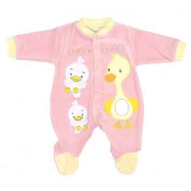 pyjama velours rose canard naissance