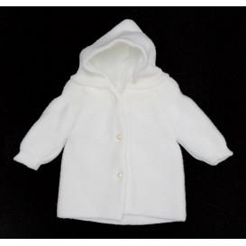 paletot maille acrylique blanc naissance