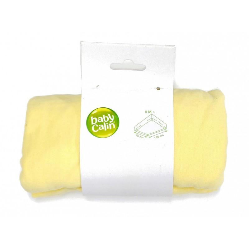Drap housse jersey jaune 70x140cm - Drap housse jaune ...