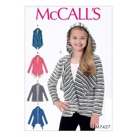 patron enfant gilet et cardigans McCall's M7427