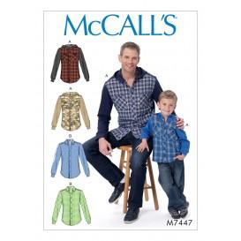 patron chemises McCall's M7447