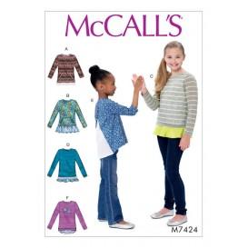 patron enfant hauts McCall's M7424