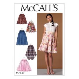 patron jupes et ceinture McCall's M7439
