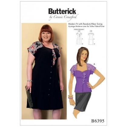 patron chemisier et robe Butterick B6395