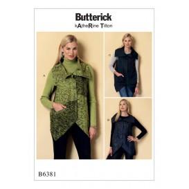 patron gilet Butterick B6381