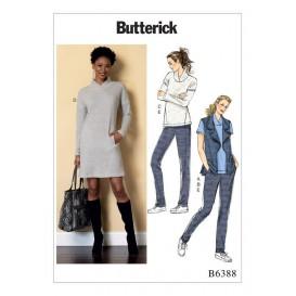 patron gilet, hauts, robe, pantalon Butterick B6388