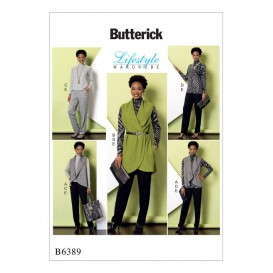 patron gilet, haut, tunique, pantalon Butterick B6389