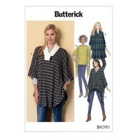 patron poncho très ample Butterick B6391