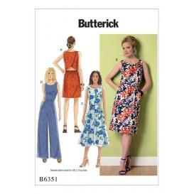 patron robe et combinaison Butterick B6351