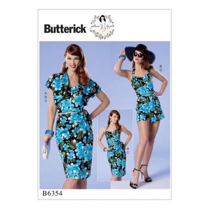 patron boléro, bustier, jupe Butterick B6354