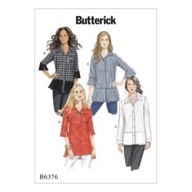 patron chemise ample Butterick B6376