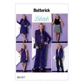 patron veste, robe, pantalon Butterick B6387