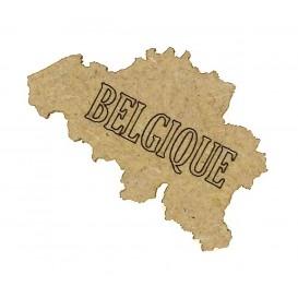 sujet en bois carte belgique
