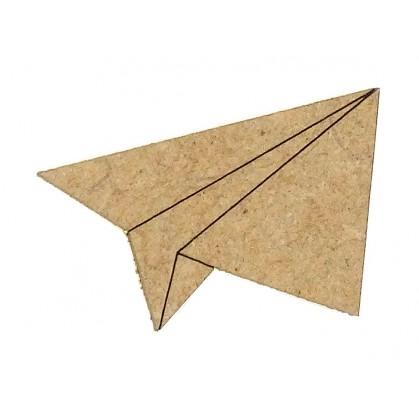sujet en bois avion origami