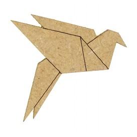 sujet en bois oiseau origami