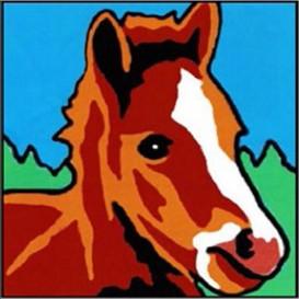 kit canevas margot cheval gros trous