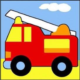 kit canevas margot camion de pompier gros trous