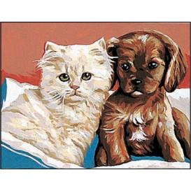 kit canevas margot chat et chien