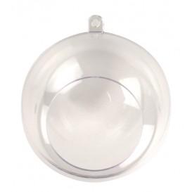 boule en plastique ouverte 8cm