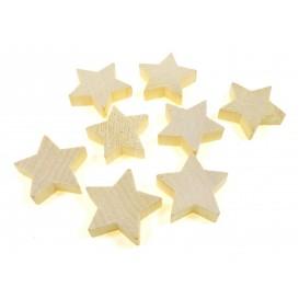 8 étoiles en bois brut 3,5x1cm