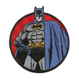 écusson batman rond thermocollant