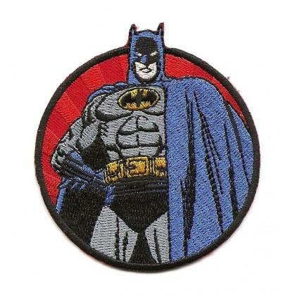 écusson batman rond thermocollant