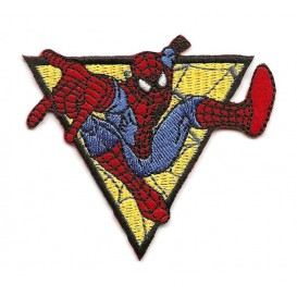 écusson spider-man triangle thermocollant