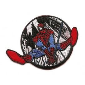 écusson spider-man rond noir et blanc thermocollant