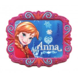 écusson disney anna la reine des neiges rectangle thermocollant