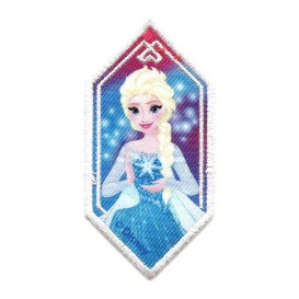 écusson disney elsa la reine des neiges losange thermocollant
